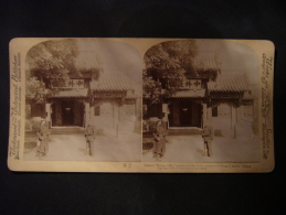 """Chine - China's """"Foreign Office"""" Guarded By The Abies, Entrance To Tsung-li Yamen, Peking, 1901 - Photos Stéréoscopiques"""