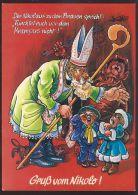 ST NICHOLAS OLD POSTCARD #77 KRAMPUS - Feiern & Feste