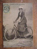 2013  CPM,  Annie Londonderry Cohen Kopchovsky, 1er Dame Première Femme à Vélo Autour Du Monde Réédition - Cycling