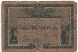 Chambre De Commerce De La Roche Sur Yon  Et De La Vendée/Bon De  25 Centimes/1916 - 1915      BIL124 - Chamber Of Commerce