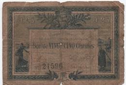 Chambre De Commerce De La Roche Sur Yon  Et De La Vendée/Bon De  25 Centimes/1916 - 1915      BIL124 - Handelskammer