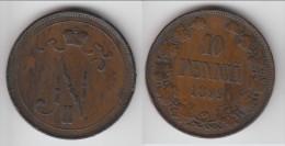 **** FINLANDE - FINLAND - 10 PENNIA 1899 NICHOLAS II *** EN ACHAT IMMEDIAT - Finlande