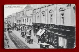Chili Chile - Santiago - Calle Del Estada Desde Huérfanos - 1912 - Cile