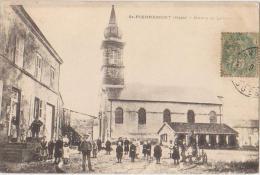 CPA 88 SAINT PIERREMONT Mairie Et Lavoir Eglise Animation - France