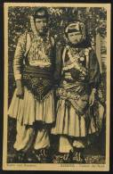 ALBANIA ALBANIEN GIRLS IN COSTUME OLD POSTCARD #108 - Albanien