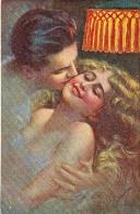 AK KÜNSTLERKARTEN,paare Old POSTCARD 1922 - Couples