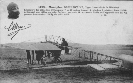 Louis Blériot Franchit Le Premier La Manche En Aéroplane  -   Carte Postale - Aviatori