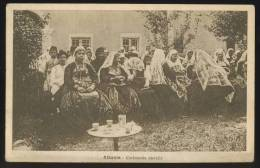 ALBANIA ALBANIEN COSTUME CEREMONIA NUZIALE WEDDING OLD POSTCARD #125 - Albanien