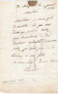 VP223 - CHALIFERT 1833 - Lettre Pour LAGNY - Manuscrits
