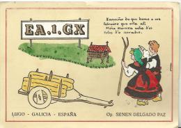 Carte  Radio  Amateur  Qsl :   ,espagne , Espana ,  EA  1  GX  , LUGO   (  Fermier - Ferme ) - Radio Amateur