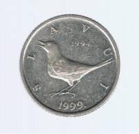 CROATIA - CROACIA -  1 Kuna 1999  KM9.2  - Nightingale Animal Coin - - Croatia