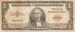 BILLETE DE LA REPUBLICA DOMINICANA DE 1 PESO ORO DEL AÑO 1947 DE DUARTE (BANKNOTE) RARO - República Dominicana