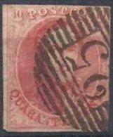BELGIQUE - 40 C. Médaillon Oblitéré - 1858-1862 Médaillons (9/12)