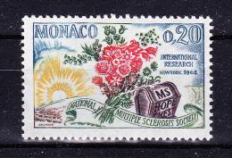 MONACO   1962  National Multiple Sclerosis Society   Y&T   #  580  Cv   0.35   E . ** M N H  , V V F - Monaco