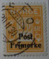 Norvège - 1929 N° 139 Timbres Taxe De 1889-1923 Surchargés - Norway
