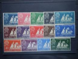 Saint Pierre Et Miquelon 1942. Yvert 296-309 ** MNH - Nuovi