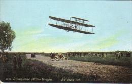L´Aviation En 1908  -  L'Aéroplane Wilbur Wright  -  En Plein Vol  -  Carte Postale - Flieger