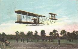 L´Aviation En 1908  -  L´Aéroplane Wilbur Wright  -  Une Sortie Au Camp D'Auvours  -  Carte Postale - Flieger