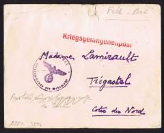 1940  Kriegsgefaangenenbrief  Nach Tregastel Frankreich - Allemagne