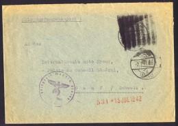 1942  Kriegsgefaangenenbrief  Nach Rote Kreuz - Briefe U. Dokumente