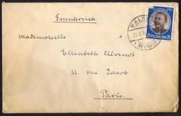 1938  H. V. Wissmann  MiNr 543 Einzelfrankatur  Fehler - Briefe U. Dokumente
