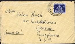 1936  Brief Nach USA  MiNr 620  Einzelfrankatur - Briefe U. Dokumente