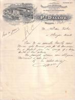 JURA - MOIRANS - TOURNERIE EN TOUS GENRES - SPECIALITES DE JOUETS POUR CONFISEURS - P. DALLOZ - LETTRE - 1916 - France