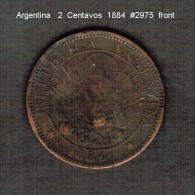 ARGENTINA    2  CENTAVOS  1884 (KM # 33) - Argentina
