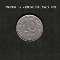 ARGENTINA    10  CENTAVOS  1951  (KM # 47) - Argentina
