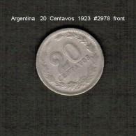 ARGENTINA    20  CENTAVOS  1923  (KM # 36) - Argentina