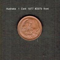 AUSTRALIA    1  CENT  1977  (KM # 62) - Decimal Coinage (1966-...)