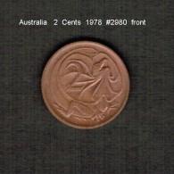 AUSTRALIA    2  CENTS  1978  (KM # 63) - 2 Cents