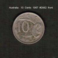 AUSTRALIA    10  CENTS  1967  (KM # 65) - Decimal Coinage (1966-...)