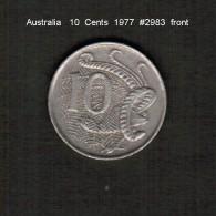 AUSTRALIA    10  CENTS  1977  (KM # 41) - Decimal Coinage (1966-...)
