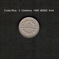 COSTA RICA    5  CENTIMOS  1969  (KM # 184.2) - Costa Rica