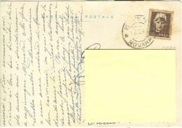 STORIA POSTALE, IMPERIALE  SF £. 1,20, S 532, ISOLATO IN TARIFFA SU CARTOLINA POSTALE VIAGGIATA 1945,  BAVENO - CREMA, - 5. 1944-46 Lieutenance & Umberto II