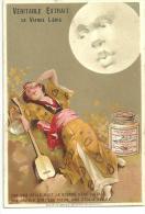 """Chromo LIEBIG Série 147 Villemard, Japonaise, Kimono, Luth """"par Une Belle Nuit La Blonde Hébé ..."""" - Liebig"""