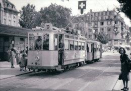 Tramways De Lausanne, Place Chauderon, Photo 1950 BVA TL 223.6 - VD Vaud