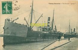 Cpa 17 Tonnay-Charente, Le Steamer Jarnac, Belle Carte Pas Courante Affranchie 1910 - France