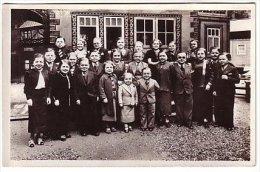 Exposition Paris 1937 - Un Groupe De La Pouplation D Royaume De Lilliput - Tampon Maire Du Village - Nain - Esposizioni