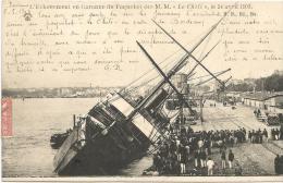 """BORDEAUX  -  Echouement  Du  Paquebot  Des  M.M.  """" LE  CHILI """"  Le  24  Avril  1903 - Paquebots"""