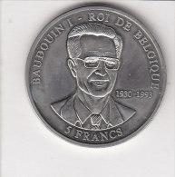 5 FRANCS Baudouduin I Roi De Belgique  2000 République Démocratique Du Congo - Congo (République Démocratique 1998)