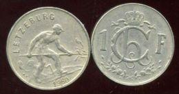 LUXEMBOURG  1 Franc  1960 - Luxemburgo