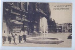 41. Exposition Coloniale De Marseille 1922 - Danseuses Cambodgiennes Et Palais De L'Indochine - Expositions Coloniales 1906 - 1922