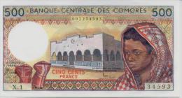 COMOROS P. 10a 500 F 1984 UNC (s. 6) - Comores