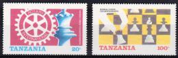Tanzania yvertnrs: 275/76 + blok44 postfris