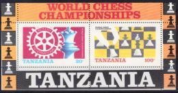 Tanzania yvertnrs: blok44 postfris