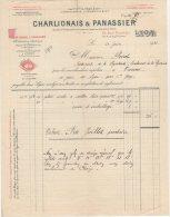 69 LYON FACTURE 1931 M VERRERIE OFEVRERIE  PORCELAINES CHARLIONAIS & PANASSIER  * S1 - France