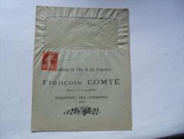 Roquefort Des Corbieres Francois Comte Vin Propriete Enveloppe Publicite Publicitaire - Publicités