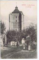 Monein (64) La Rue Florence Et Le Clocher, Animée , Homme à Cheval - Altri Comuni